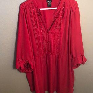 Red beautiful shirt size 5 torrid brand